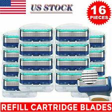 16Pcs For Gillette Fusion ProGlide Replacement Razor Blades 5-layer US Stock TOP