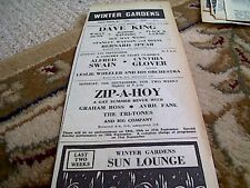 67-5 ephemera 1964 advert margate winter gardens dave king bernard spear