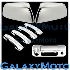 07-13 TUNDRA CREWMAX HALF Mirror+ Chrome ABS 4 Door Handle+Tailgate Camera Cover