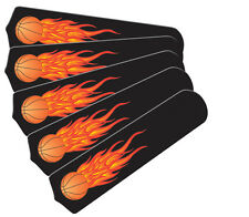 """New HOT FLAMES BASKETBALL SPORTS 52"""" Ceiling Fan BLADES ONLY"""
