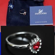 SWAROVSKI Ladies RUBY CRYSTAL RING w/ Certificate (6 1/2)