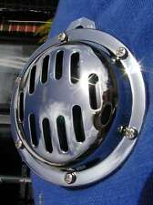 12V 100mm CHROME 12 VOLT HORN great sound +gr8 value cafe racer custom bob chop