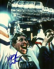 Willy Lindstrom Hand Signed Stanley Cup 8x10 Photo Edmonton Oilers