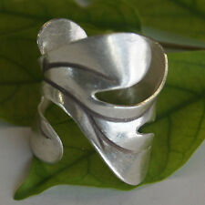 Silver Size Us=8/P Adjustable Leaf Ring Karen Hilltribe Fine