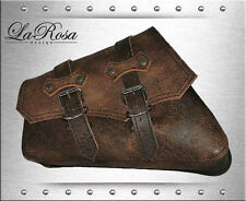 La Rosa HD Sportster Classick Distress Rustic Brown Leather Left Mount Saddlebag