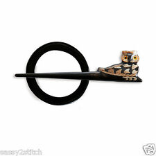 Lantern Moon Owl Shawl Pin with Ring