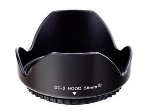 58mm Screw Mount Reversible Flower Petal Lens Hood Protector - UK SELLER