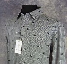 Robert Graham Mens Shirt Size XL LS Classic Fit Skull Print Button Down NWT