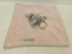 Blankets and Beyond Gray & Pink Elephant Plush Girl Security Baby Lovey Gift