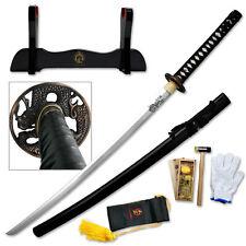 Masahiro Ancient Warrior Hand Forged Steel Katana Sword w/ Scabbard Collectible