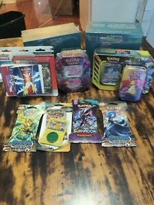 Pokemon TCG Bundle!  All New/Sealed!  38 Booster Packs Total! ETBs Tag Team Tin!
