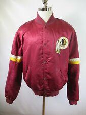 E9086 VTG STARTER Washington Redskins NFL Football Snap Satin Jacket Size XL