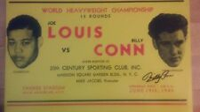 BOXING LEGEND BILLY CONN SIGNED JOE LOUIS FIGHT POSTER HEAVYWEIGHT CHAMPIONSHIP