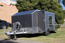 Charcoal Grey Enclosed Motorbike Work Trailer Carrier | 4 Bike / 920kg Payload