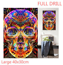 Full Drill Color Crystal Skull 5D Diamond Painting Embroidery Cross Stitch Kit