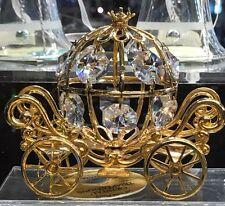 NEW Disney Arribas 24K Gold PL Spectra SWAROVSKI Crystal Cinderella Coach!