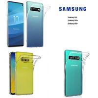 Custodia Cover Case Ultra Slim Silicone Trasparente Samsung Galaxy S10e S10 Plus