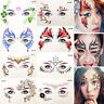 Face Jewels Gems Adhesive Sticky Weddings Party Halloween Glitter Facial Tattoo
