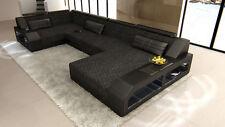 Fabric Sofa Interior Design Leather Mix Arezzo U Upholstered With LEDs