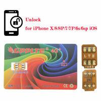 10x GPPLTE 4G+Turbo SIM Card Unlock For iPhone X 8 7 Plus Unlocking LTE IOS 12.3