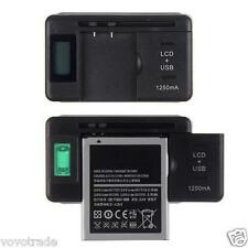 Universal Battery Charger   USB-Port LCD Indicator Screen For Cell Phone camera