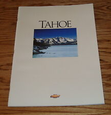 Original 1995 Chevrolet Tahoe Deluxe Sales Brochure 95 Chevy
