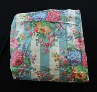 """VINTAGE 1940'S  DEADSTOCK COLORFUL FLORAL CHINTZ FABRIC 7 YDS X 35"""" W"""