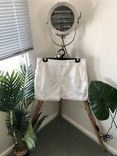 COUNTRY ROAD Cream Off White LINEN Blend SHORTS Size 10 LADIES Women's FREE POST
