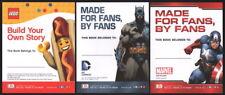 3 SDCC Promo DK Book Plate Lot Jim Lee Batman Captain America Lego Marvel DC