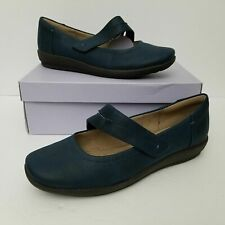 Easy Spirit Womens Aranza Mary Jane Flat Navy Blue 10 W New