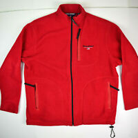 Polo Sport Ralph Lauren Full Zip Vintage 3 Pocket Fleece Jacket Size Sz M Red