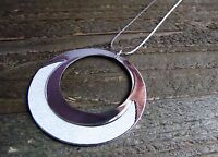 Simple Chain Necklace Large Circle Pendant Gold Silver Metallic Fashion Jewelry