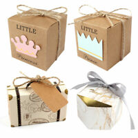 10pcs Baby Shower Favor Candy Box Crown Paper Kids Birthday Wedding Party Decor