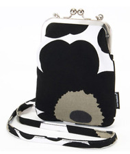 Marimekko Rimmi purse bag, from Finland NWT, black white Unikko