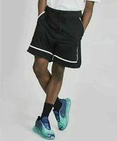 Men's Nike Sportswear Statement Mesh Shorts Black White AR2418-010 Size XL