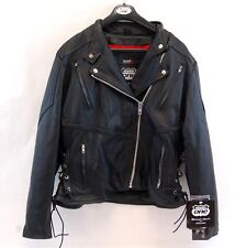 Highway One Black Leather Motorcycle Jacket Biker Womens 2XL XXL Thinsulate