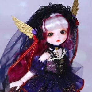 schöne 1/6 Bjd Doll/Puppe mit Outfit 28 cm Sammlerpuppe Neu