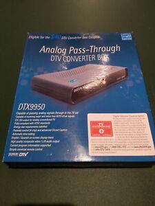 Digital Stream Analog Pass-Through DTV Converter Box  DTX9950  NEW
