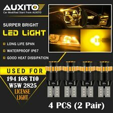 4 PC AUXITO Amber Yellow 168 194 921 License Side Marker Light 24-SMD LED Bulb A