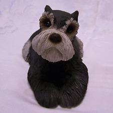 New Sandicast Black Schnauzer Dog Sandra Brue Original Size Glass Eyes Figurine