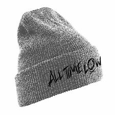 Official All Time Low - Scratch Logo - Grey Beanie Hat