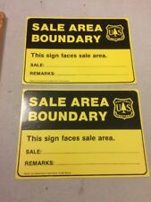Old 1963 Forest Service Sign BOUNDARY OF TIMBER SALE Unused