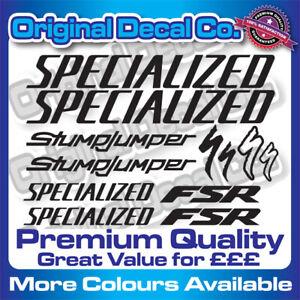 Premium Quality Specialized Stumpjumper FSR Bike Decals Stickers bike frame mtb