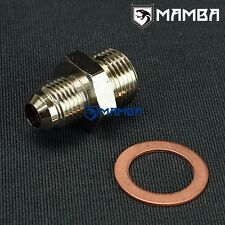 Adapter fitting kit 6AN to M18 x 1.5 for Nissan RB25DET factory T3 ball bearing