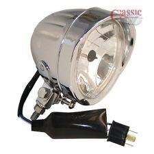 Universal Bullet Chrome Headlight 4.5 Inch Motorcycle Trike Quad Bike Custom