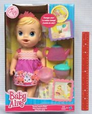 Baby Alive Teacup Surprise Doll Tea Party BLONDE Drinks Wets Pees Girls 3+ NEW