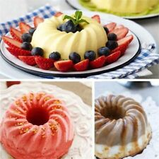 Silicone Bundt Pan Ring Shaped Cake Mold Bakeware Tray Kitchenware Mould Cream