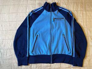 Adidas Vintage Raglan Track Top Sz S/M Made In Yugoslavia Blue Great Condition