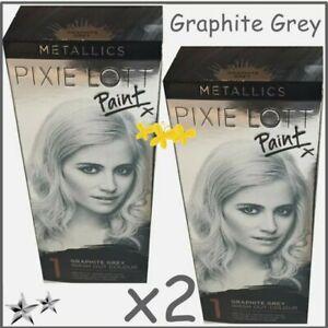 2x Gray Silver Hair Colour Dye Pixie Lott Wash-out Grey