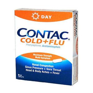 CONTAC Cold+Flu DAY Maximum Strength Multi Symptom 8 Caplets